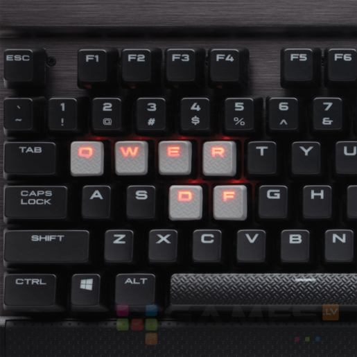 Corsair K70 LUX, Red LED, Cherry MX Red, EU-UK