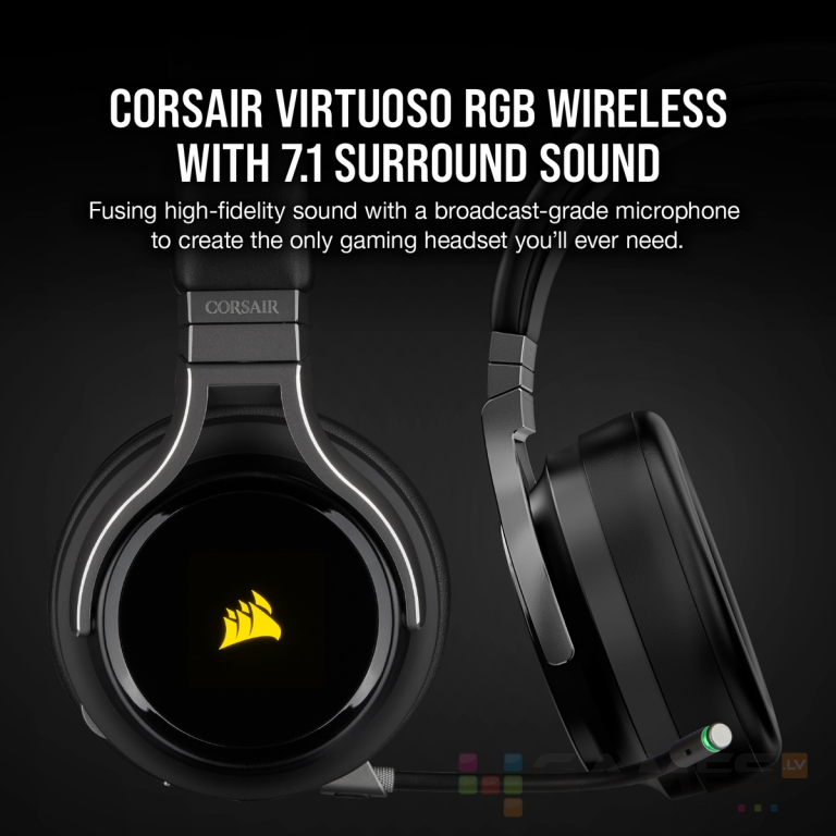 Corsair VIRTUOSO RGB WIRELESS, Carbon