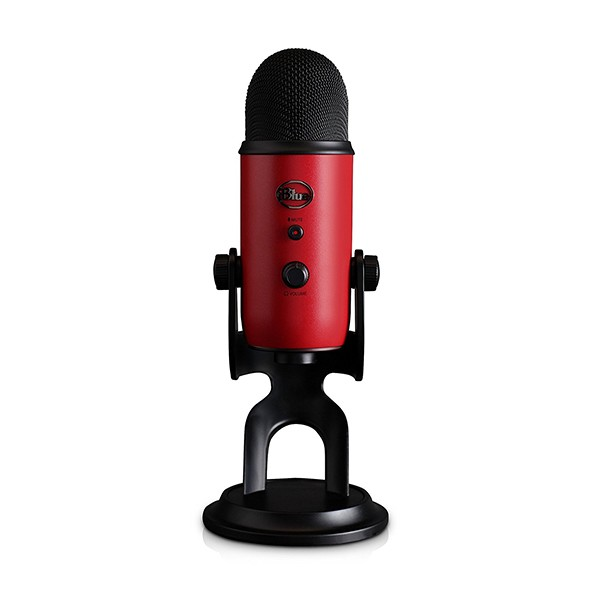Blue YETI SATIN RED