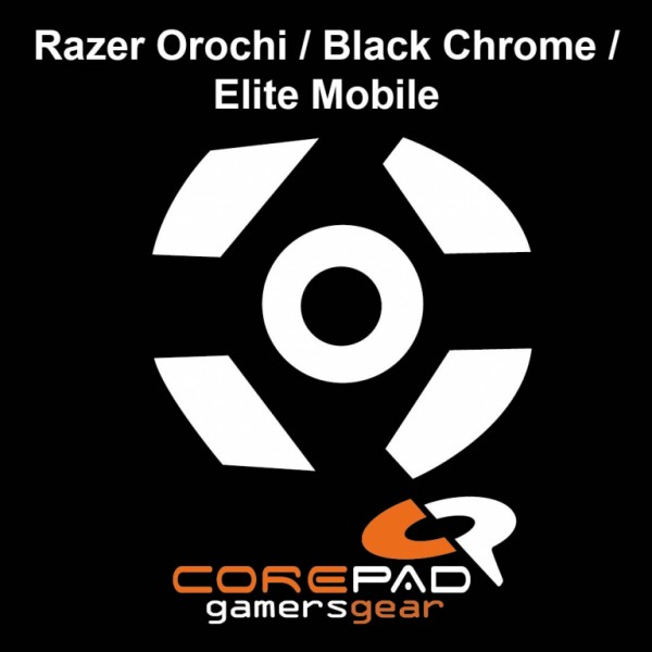 Corepad Skatez for Razer Orochi / Black Chrome / Elite Mobile